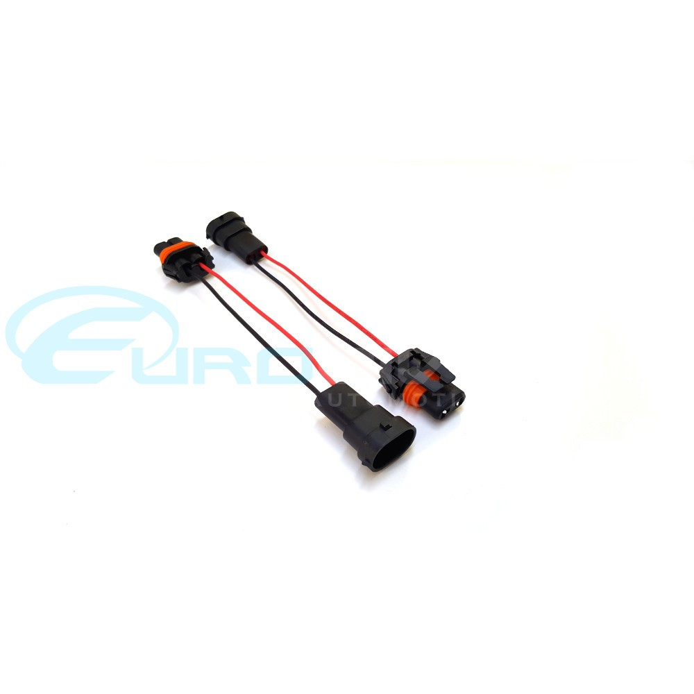 Pair Of 9006 9005 Male Plug To H8 H11 Female For BMW Fog