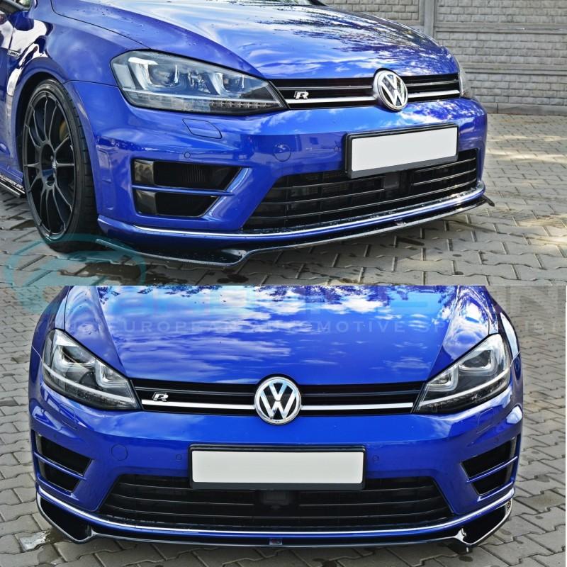 maxton v2 gloss black front lip for volkswagen golf 7 r