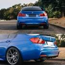BMW 3 Series F30 Sedan M Performance Style Rear Diffuser 328i