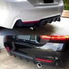 BMW 4 Series F32 F33 F36 M Performance Style Rear Diffuser 435i / 440i Fitment