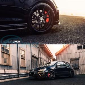 "GTC Wheels AFF-1 Satin Black 19"" VW Golf MK5 / MK6 / MK7 TSI TDI GTI GTD R32 R"