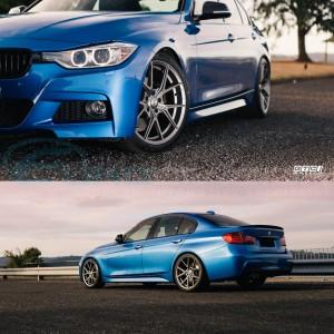 """GTC Wheels AFF-1 Space Graphite 19"""" BMW 3 Series E90 E91 E92 E93 Fitment"""