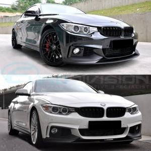 BMW M Performance Style Front Lip 4 Series F32 / F33 F36 M-Sport Bumper Fitment
