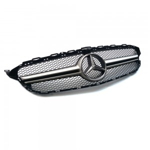 Mercedes C63 AMG Style Silver Grille C Class W205 C180 200 220 250 300 350