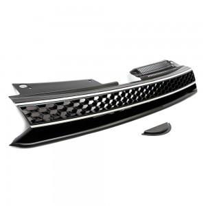 VW Golf MK6 GTI Style Badgeless Black / Chrome Front Bumper Grille