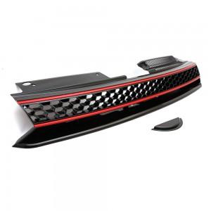 VW Golf MK6 GTI Badgeless Red / Black Front Bumper Grille