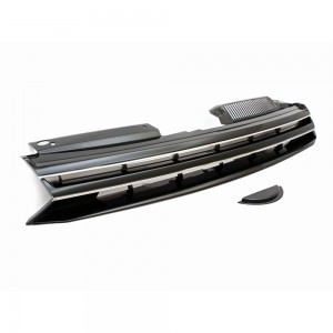 VW Golf MK6 Badgeless Style Black / Chrome Front Bumper Grille