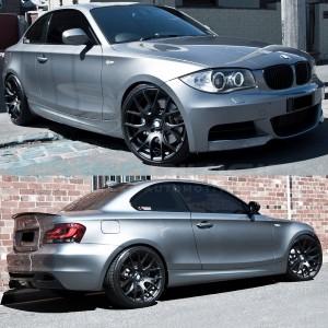 """GTC Wheels GT-CR 19"""" Square Matte Black BMW 1 Series E82 / E88 / E87 Fitment"""