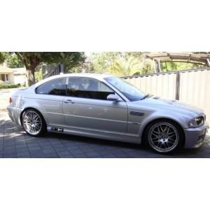 """GTC Wheels GT-VS 19"""" Wheels for BMW E46 M3 / Z4M Hyper Silver / Stainless Steel Lip"""
