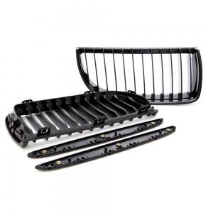 BMW 3 Series E90 Sedan Pre-LCI Gloss Black Front Grilles