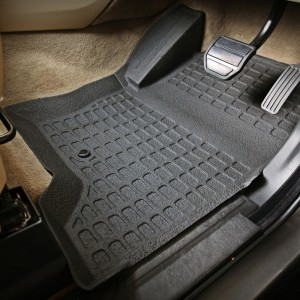 Land Rover Discovery 3 Rubber Interior Floor Mats Front Row Only