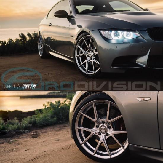"GTC Wheels AFF-1 Gloss Silver 18"" BMW 1 Series E82 / E88 / E87 / F20 Fitment"