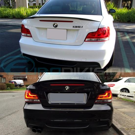 M Performance Style Carbon Fibre Trunk Spoiler for BMW E82 Coupe 125 135 1M