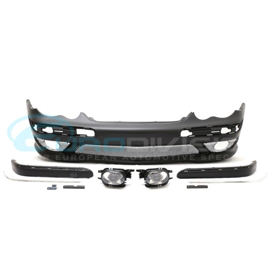 Mercedes AMG Style Front Bumper C Class W203 Sedan Fitment