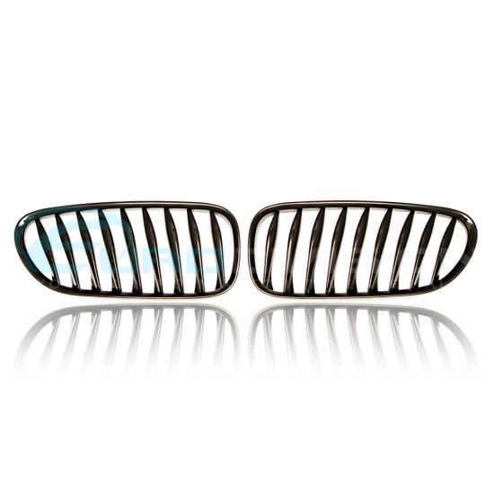 BMW Z Series E85 / E86 Z4 Gloss Black Front Grilles