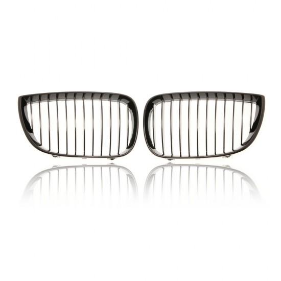 BMW 1 Series E87 Hatchback Gloss Black Front Grills