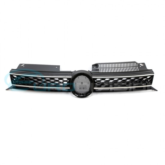 VW Golf MK6 GTI Style Black / Chrome Front Bumper Grille