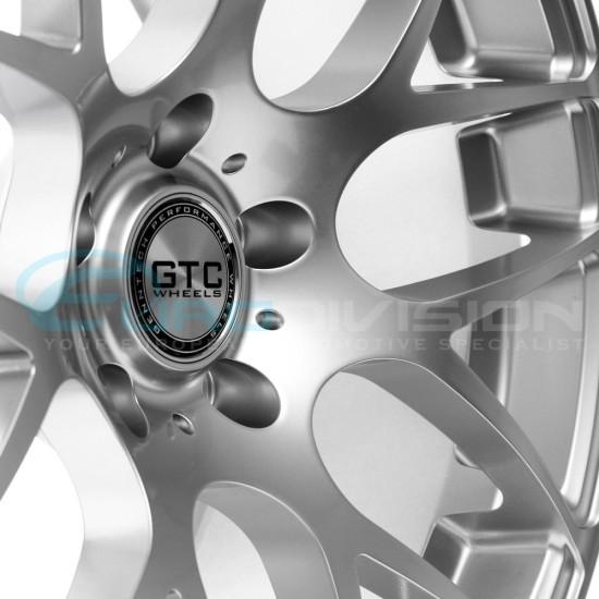 """GTC Wheels GT-CX 18"""" Square Hyper Silver BMW 1 Series E82 / E88 / E87 Fitment"""