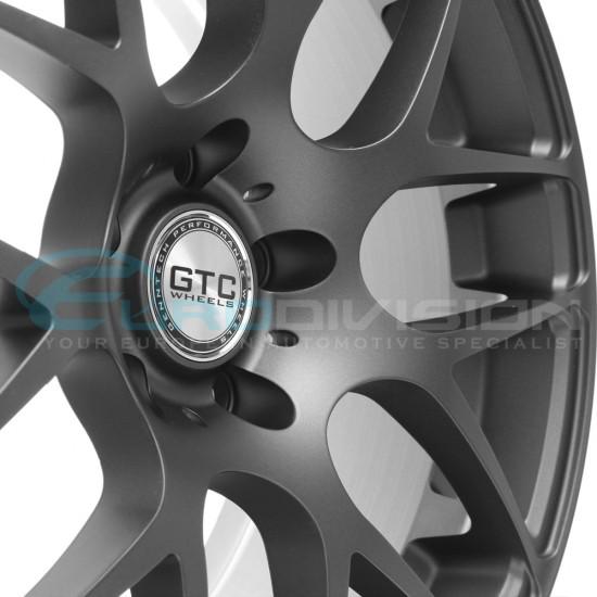 """GTC Wheels GT-CX 18"""" Staggered Matte Anthracite BMW 3 Series E90 E91 E92 E93 Fitment"""