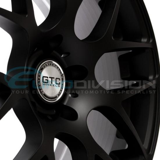 """GTC Wheels GT-CX 18"""" Staggered Matte Black BMW 3 Series E90 E91 E92 E93 Fitment"""