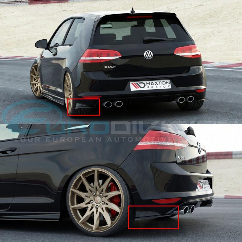 Atemberaubend Maxton Textured Black Rear Bumper Splitters for Volkswagen Golf 7 &KX_51