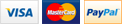 Accepted Card logos - Visa, Mastercard, Paypal, Direct Debit
